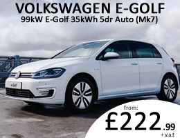 VW E Golf - Electric Car Leasing - Special Offer